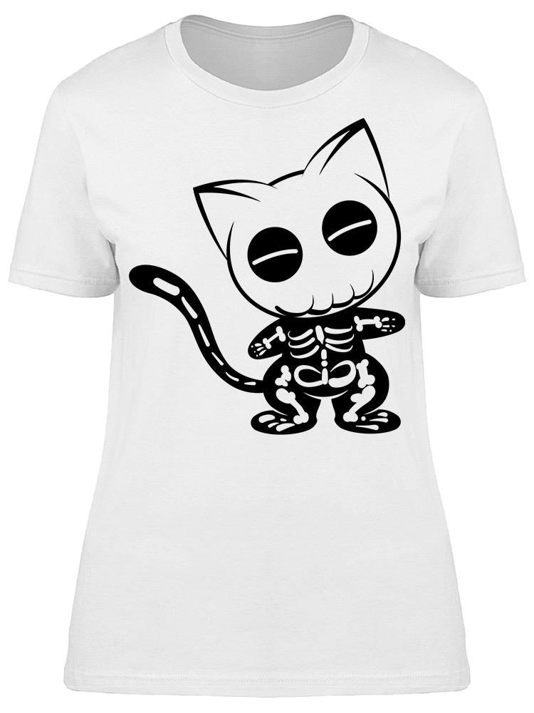 Skeleton Cat Tee Women's -Image by Shutterstock