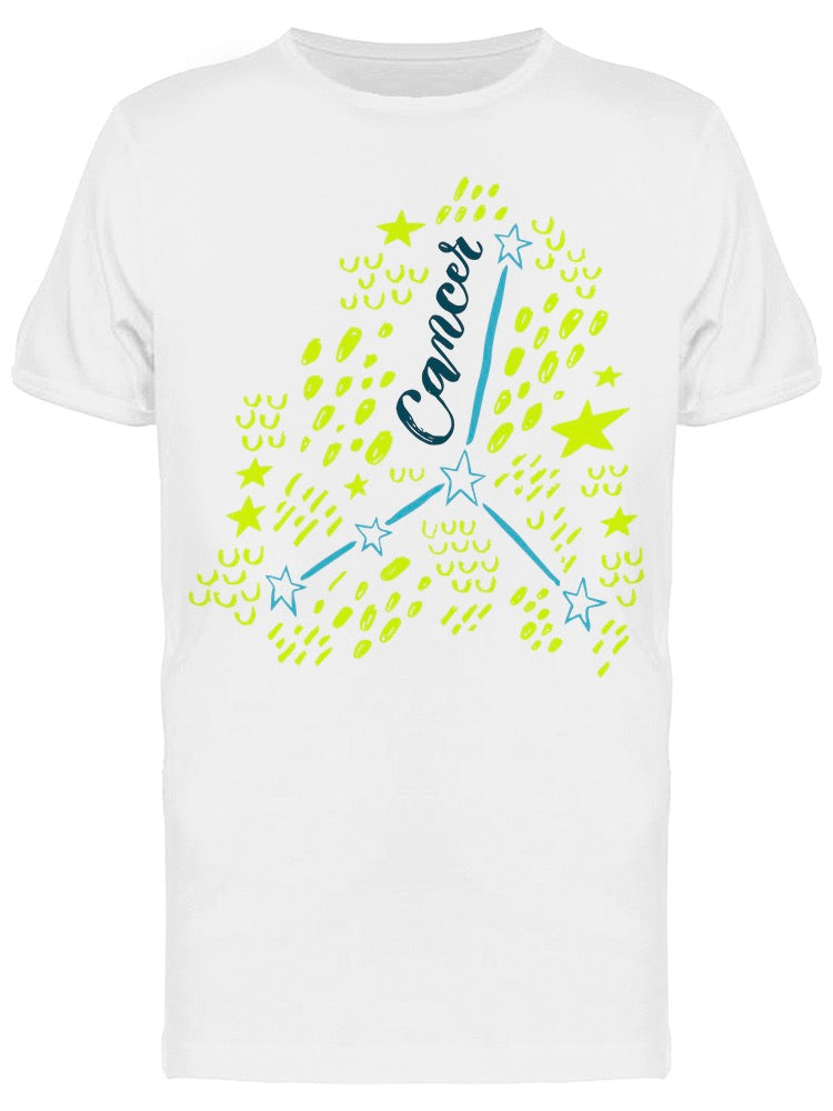Cancer Constellation Lettering Tee Men's -Image by Shutterstock