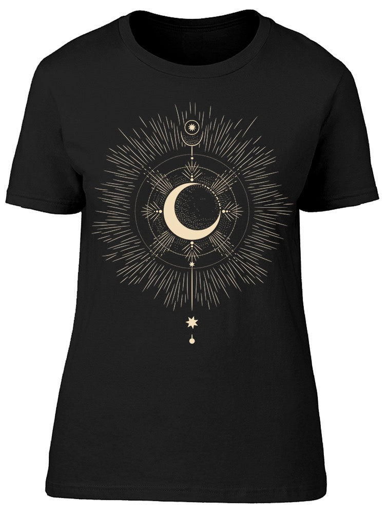 Moon Phases Art Tee Women's -Image by Shutterstock