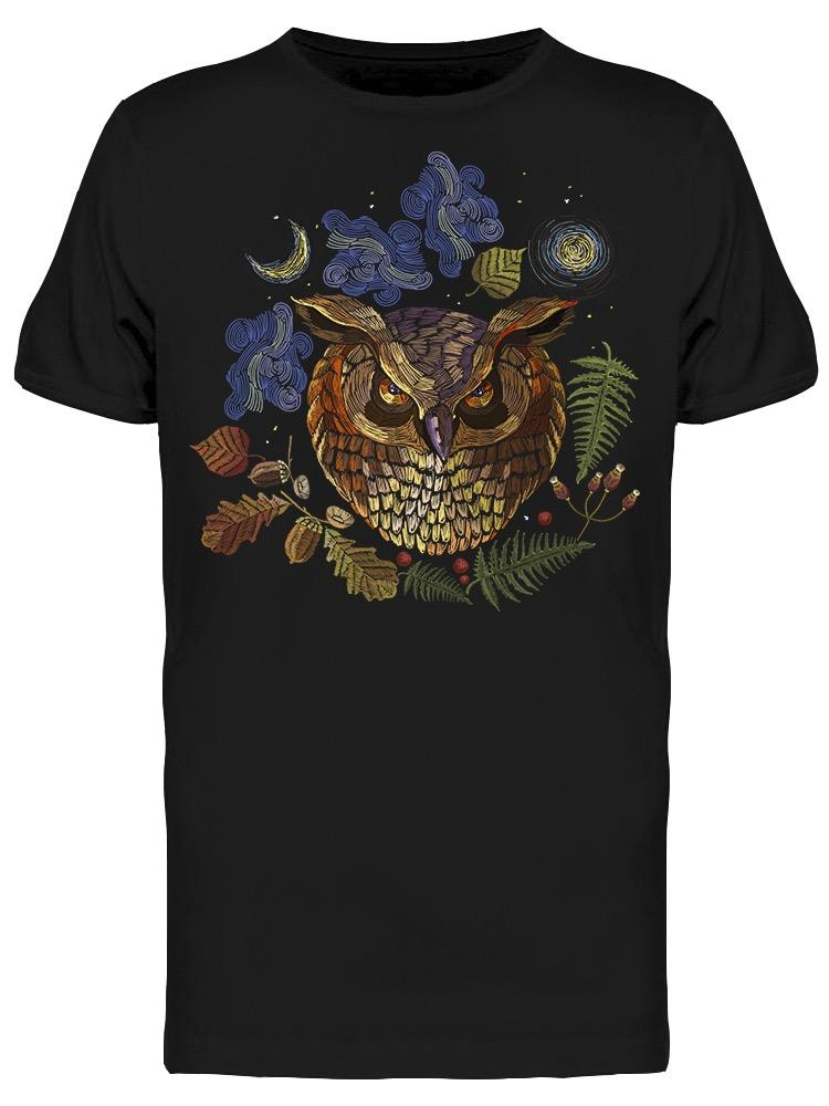 Owl And Night Forest Tee Men's -Image by Shutterstock