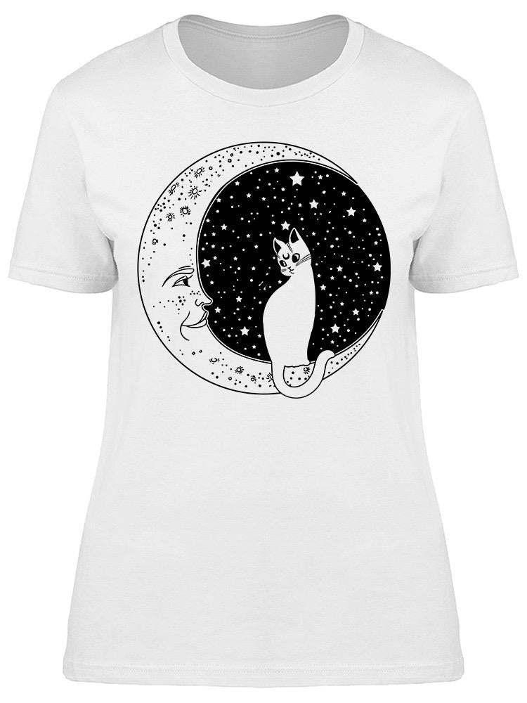 Cat On The Moon Tee Women's -Image by Shutterstock