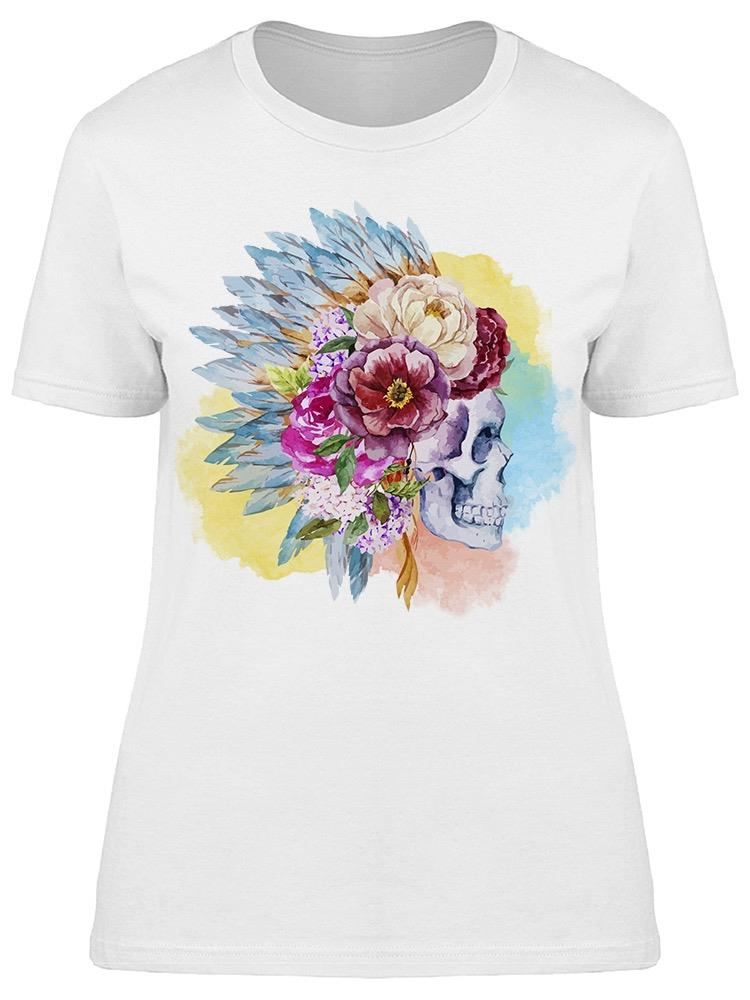 Bonnet Watercolor Skull Tee Women's -Image by Shutterstock
