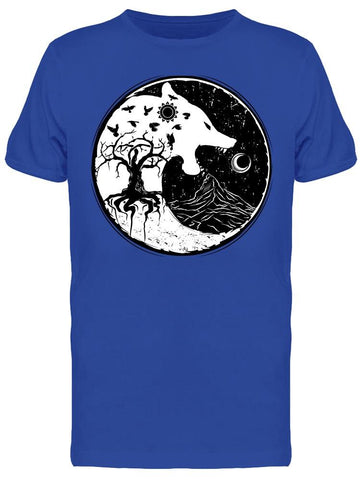 Wolf Sign Of Vikings Tee Men's -Image by Shutterstock