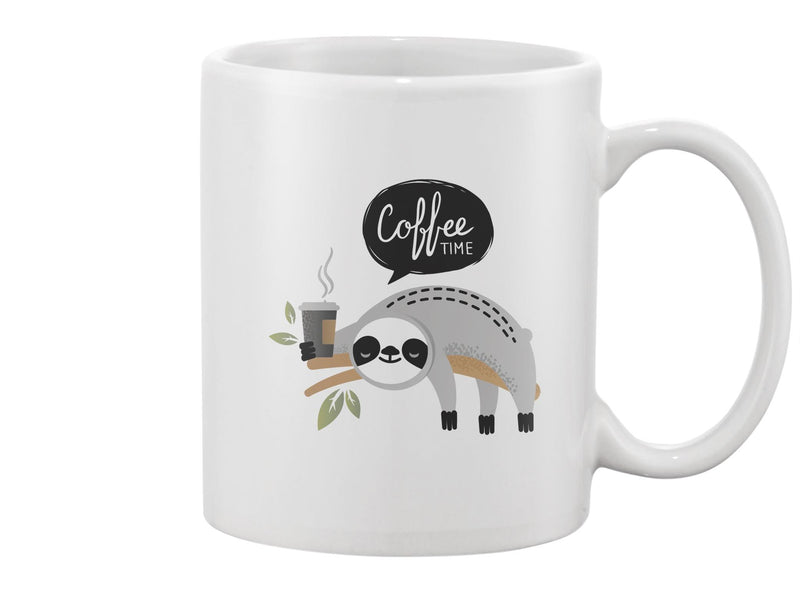 Cute Sloth With Coffee Mug -Image by Shutterstock