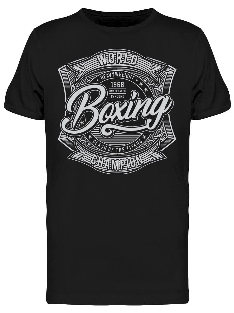 Athletic Boxing Typography Tee Men's -Image by Shutterstock