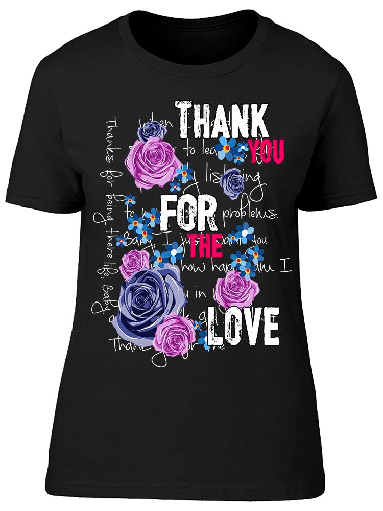 Thank You For The Love Graphic Tee Women's -Image by Shutterstock