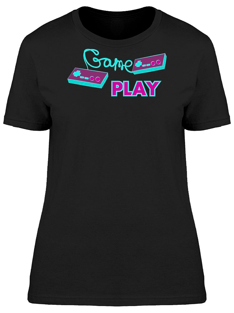 Retro Hipster Joystick Game Play Tee Women's -Image by Shutterstock