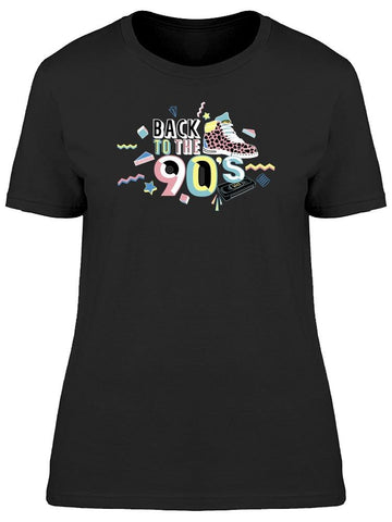 Back To The 90s Slogan Tee Women's -Image by Shutterstock
