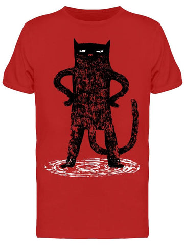 Serious Standing Cat Tee Men's -Image by Shutterstock
