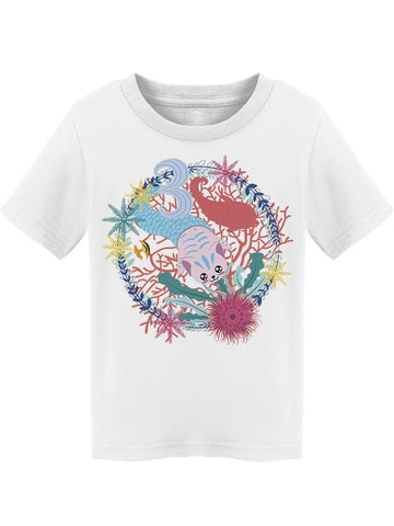 Super Cute Mermaid Kitty Tee Toddler's -Image by Shutterstock