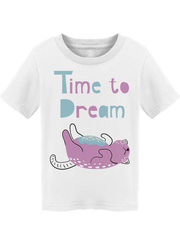 Time To Dream Sleepy Kitty Tee Toddler's -Image by Shutterstock