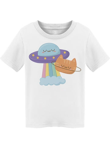 Ufo With Kitty Design  Tee Toddler's -Image by Shutterstock