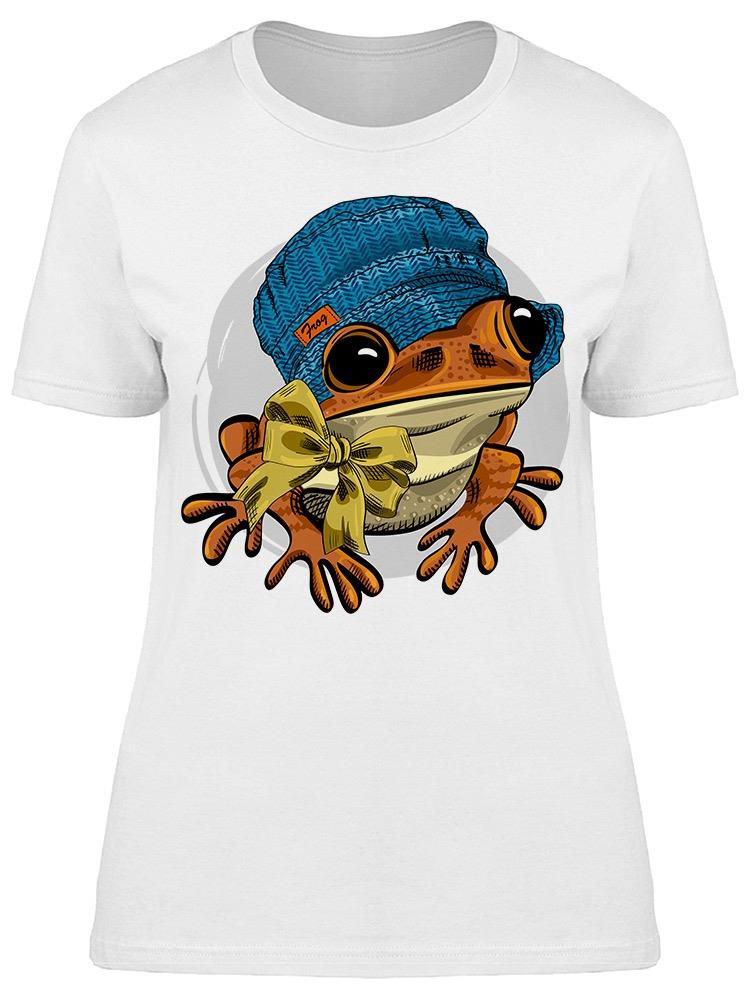 Red Frog With Hat And Bow Tee Women's -Image by Shutterstock