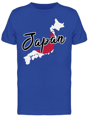 """japan"" Japanese Islands Map Tee Men's -Image by Shutterstock"