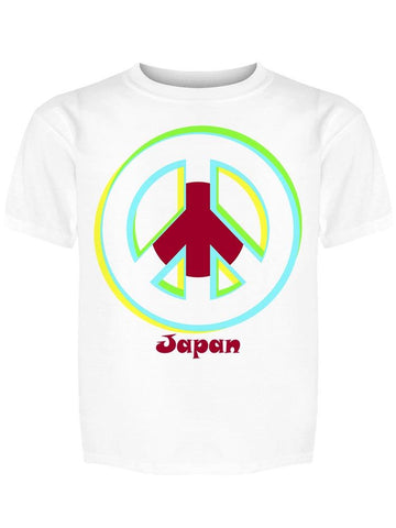 """japan"" Flag Peace Sign Tee Boy's -Image by Shutterstock"
