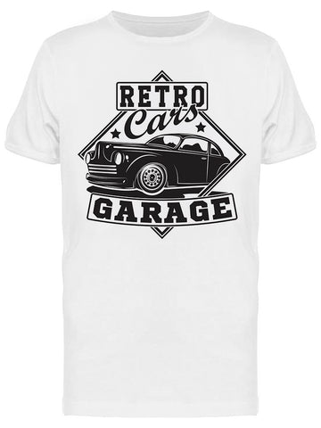 : Retro Cars Garage Tee Men's -Image by Shutterstock