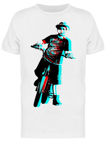 A Teenage Bicycle Rider Tee Men's -Image by Shutterstock