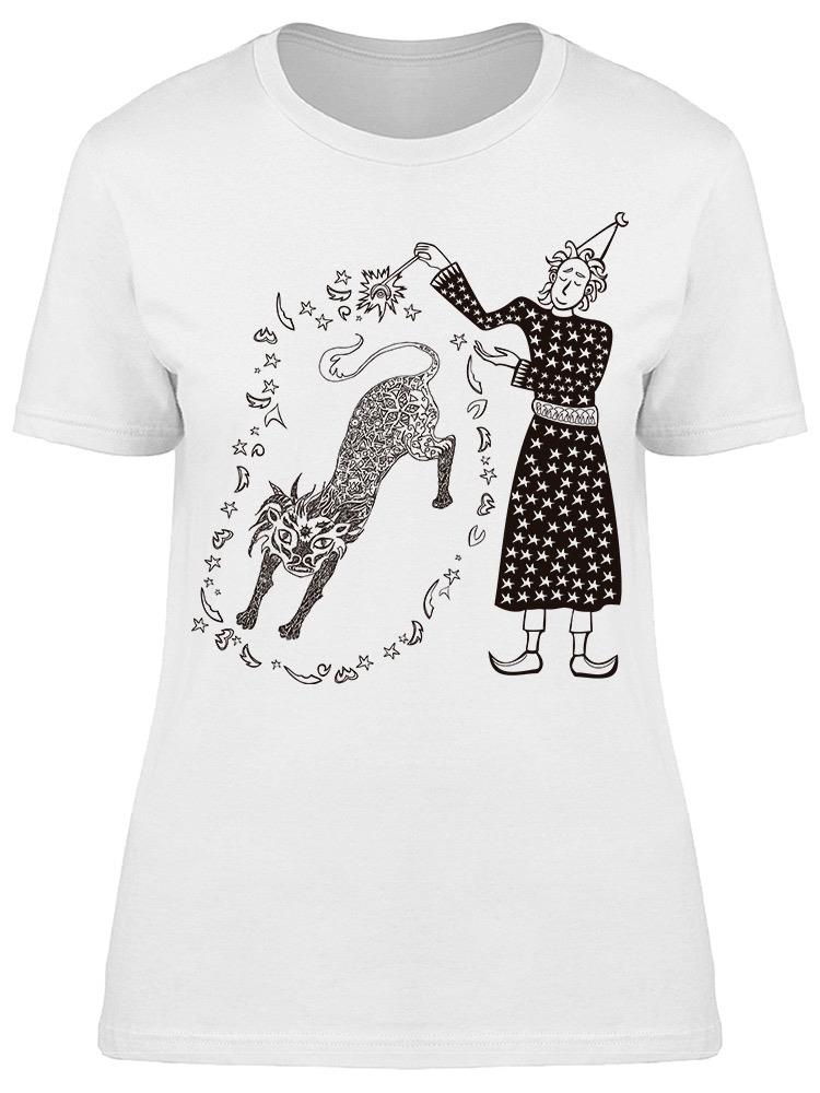 Wizard Lion Magic Sketch Tee Women's -Image by Shutterstock