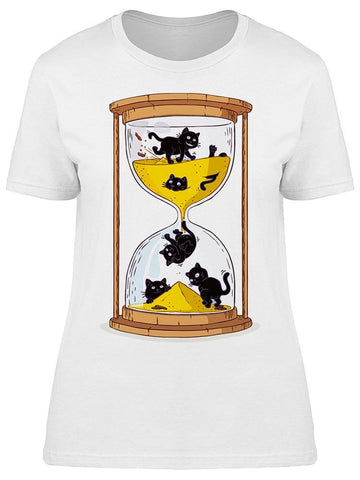 Hourglass Black Cats Tee Women's -Image by Shutterstock