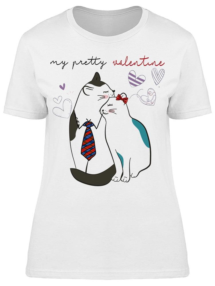 My Pretty Valentine Cat Couple Tee Women's -Image by Shutterstock