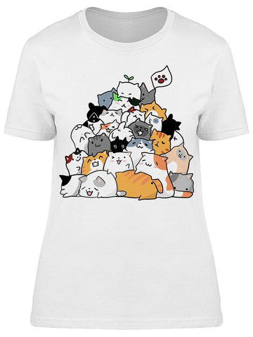 Cute Cats And Family Drawing Tee Women's -Image by Shutterstock