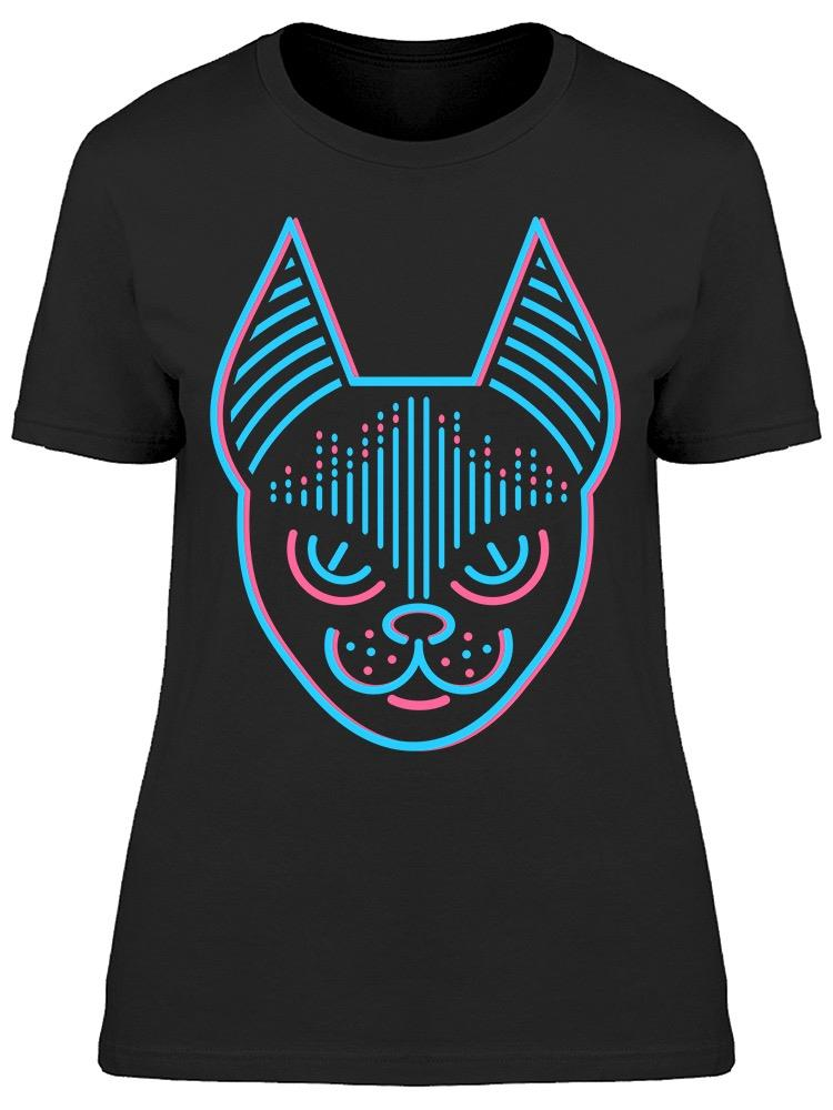 Neon Cat Egypt Cat Design Tee Women's -Image by Shutterstock