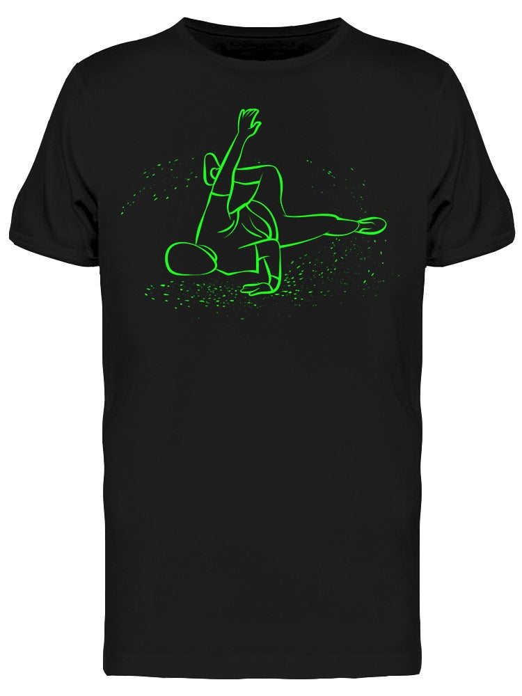 Breakdancer Green Line Drawing Tee Men's -Image by Shutterstock