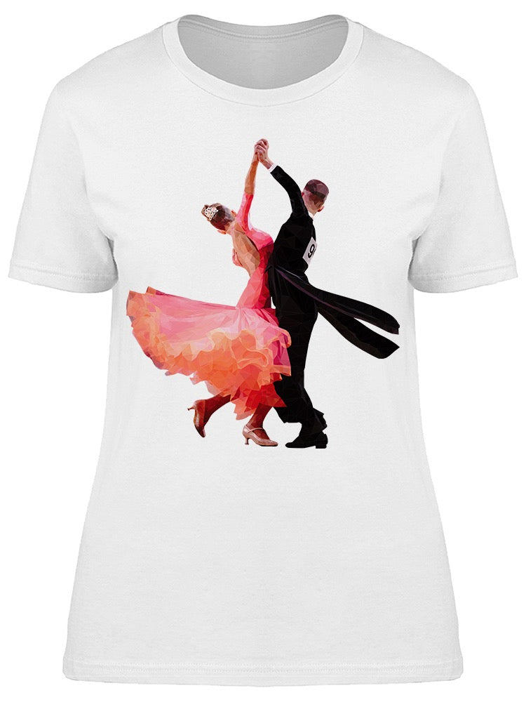 Ballroom Dancers Low Poly  Tee Women's -Image by Shutterstock