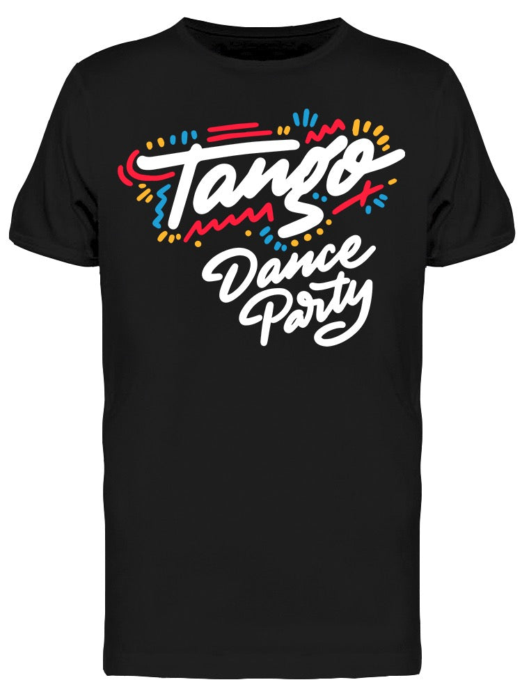 Tango Dance Party Colors Tee Men's -Image by Shutterstock