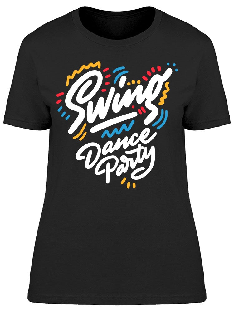 Swing Dance Party Colors Tee Women's -Image by Shutterstock