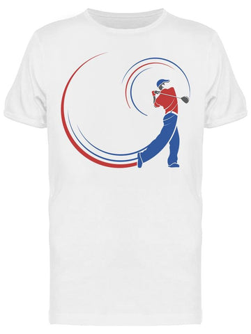 Abstract Golf Player Tee Men's -Image by Shutterstock