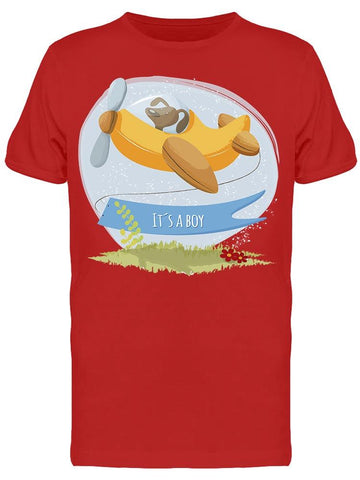 It's A Boy Puppy Flying Banner Tee Men's -Image by Shutterstock