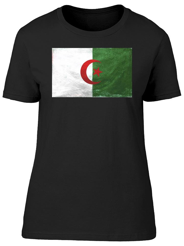 Algeria National Flag Tee Women's -Image by Shutterstock