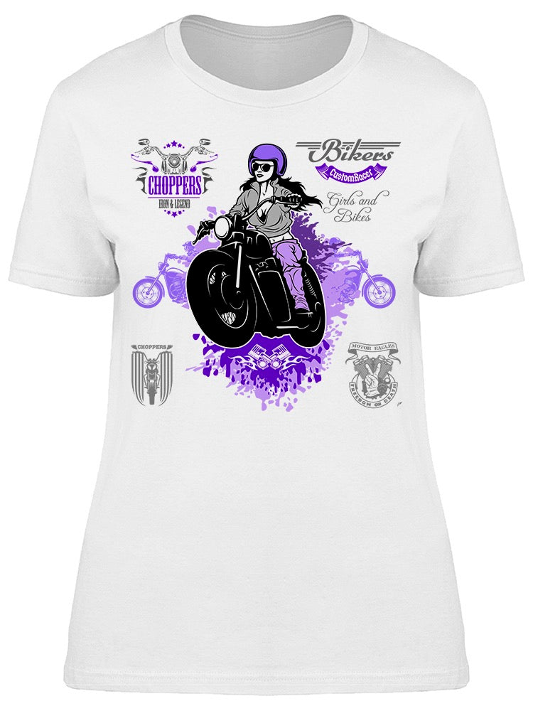 Bikers Motorcycle  Tee Women's -Image by Shutterstock