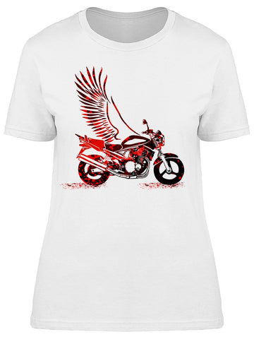 Abstract Multicolored Motorcycle Tee Women's -Image by Shutterstock