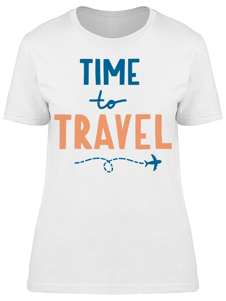 Time To Travel Airplane Sketch Tee Women's -Image by Shutterstock