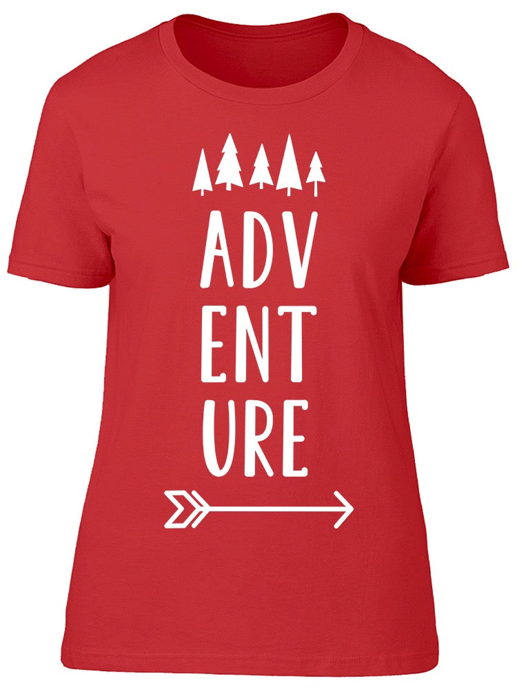 Adventure Arrow Trees Sketch Tee Women's -Image by Shutterstock