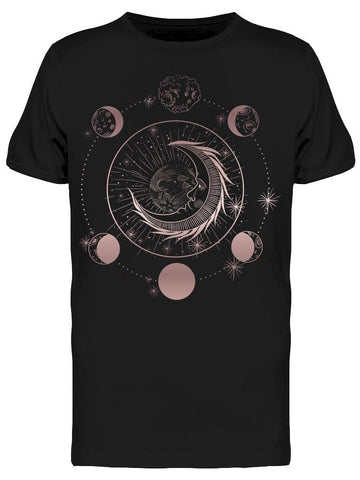 Earth Moon And Phases Mystical Tee Men's -Image by Shutterstock