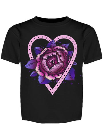 Heart Tatoo Like Rose Cute Tee Girl's -Image by Shutterstock