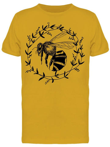 Bee Cute Botanical Circle Tee Men's -Image by Shutterstock