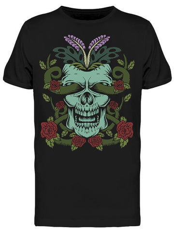 Botanical Decoration Skull Tee Men's -Image by Shutterstock