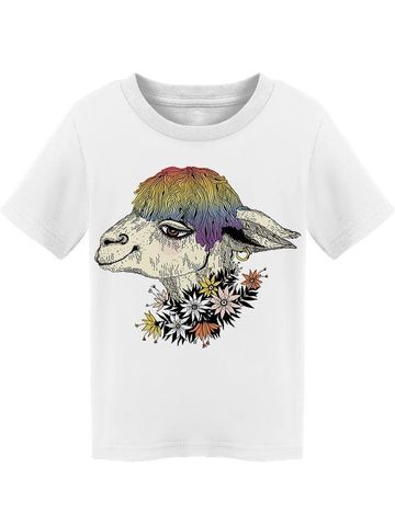 Cute Llama With Rainbow Hair  Tee Toddler's -Image by Shutterstock