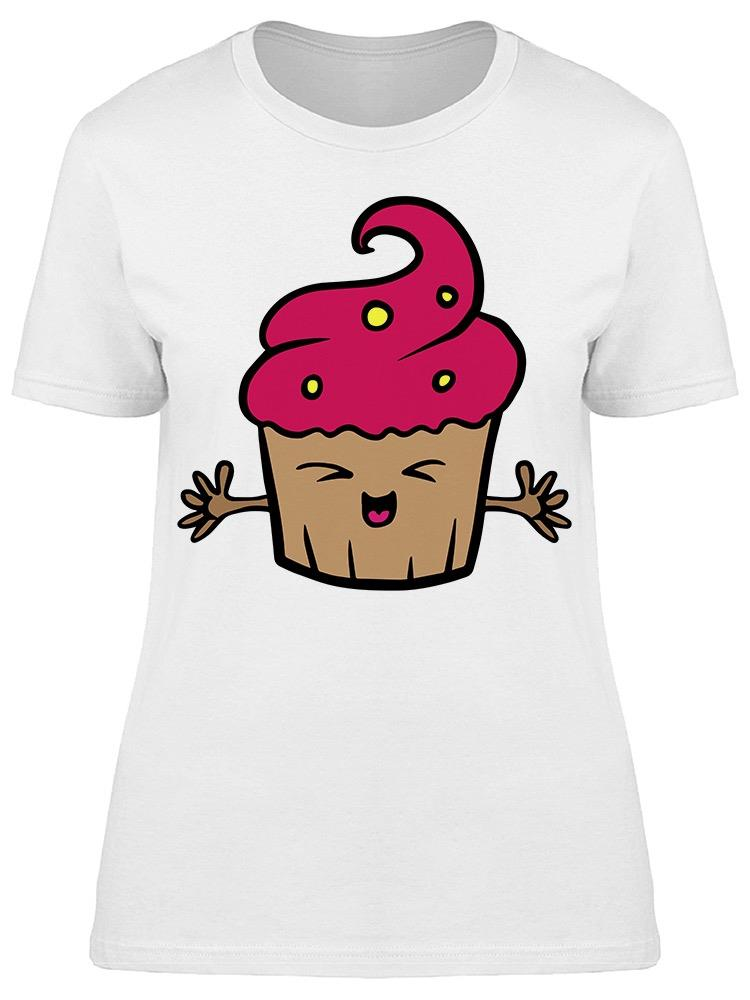 Kawaii Strawberry Cupcake Tee Women's -Image by Shutterstock