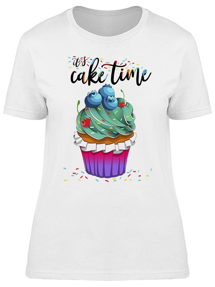 Delicious Berry Cake With Cream Tee Women's -Image by Shutterstock
