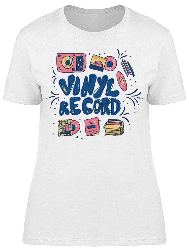 Sketch Vinyl Record Tee Women's -Image by Shutterstock