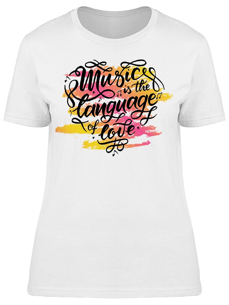 Colorful Music Language Of Love Tee Women's -Image by Shutterstock