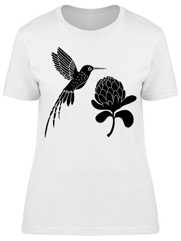 Hummingbird And Flower Art Tee Women's -Image by Shutterstock
