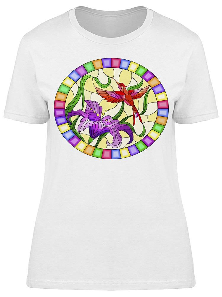 Stained Glass Hummingbirds Tee Women's -Image by Shutterstock