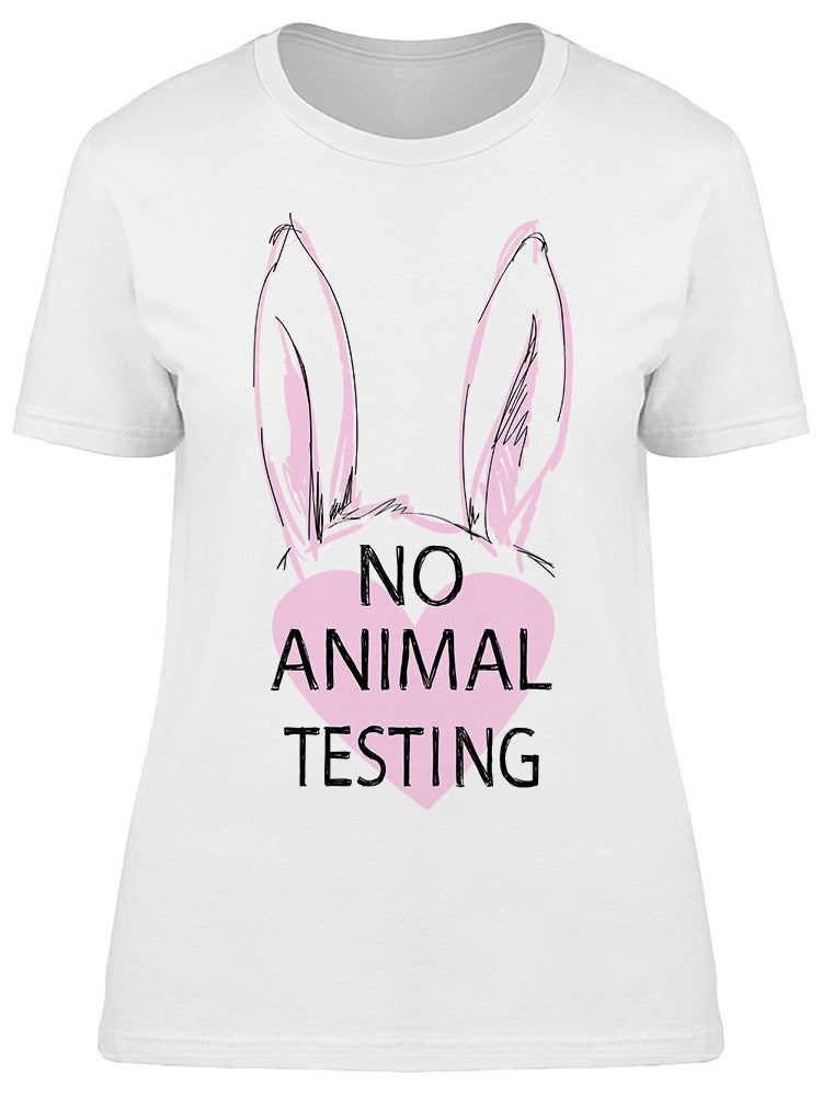 No Animal Testing Tee Women's -Image by Shutterstock