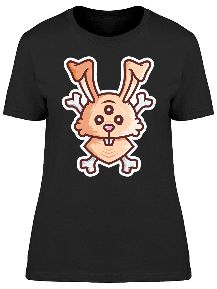 Rabbit Monster Eye Bone Tee Women's -Image by Shutterstock